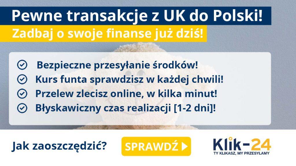 Pewne transakcje z UK do Polski